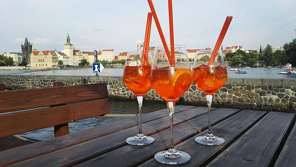 Drinking Glass Cocktail Alcohol Travel Destinations Food And Drink City Day Outdoors Close-up Prague Czech Republic City Life Friendship Lifestyles Visual Feast EyeEmNewHere The Traveler - 2018 EyeEm Awards