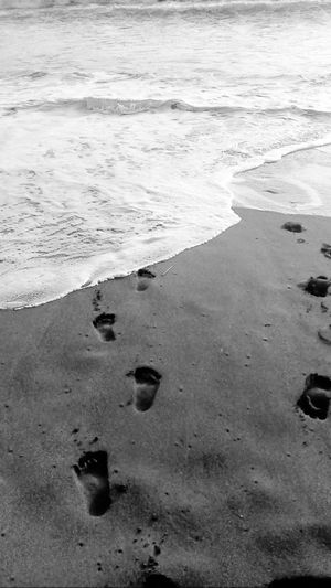 Footprints in the sand Beach Sand Nature Outdoors No People Philippines Eyeem Philippines Blackandwhite Mobilephotography Mobilephotographyphilippines Snoworld.one/bestshot The Great Outdoors - 2017 EyeEm Awards Lost In The Landscape Perspectives On Nature An Eye For Travel Summer Exploratorium Visual Creativity