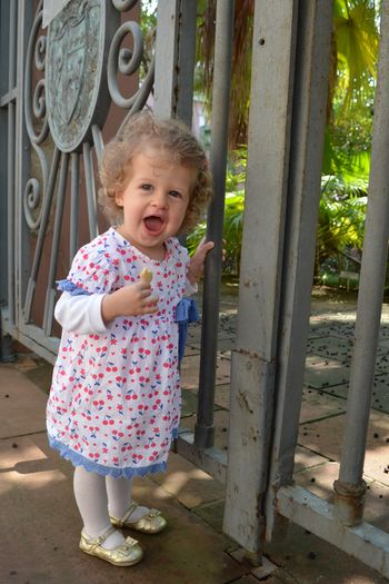 Happy Love Shine Child Floral Dress Girl Smile