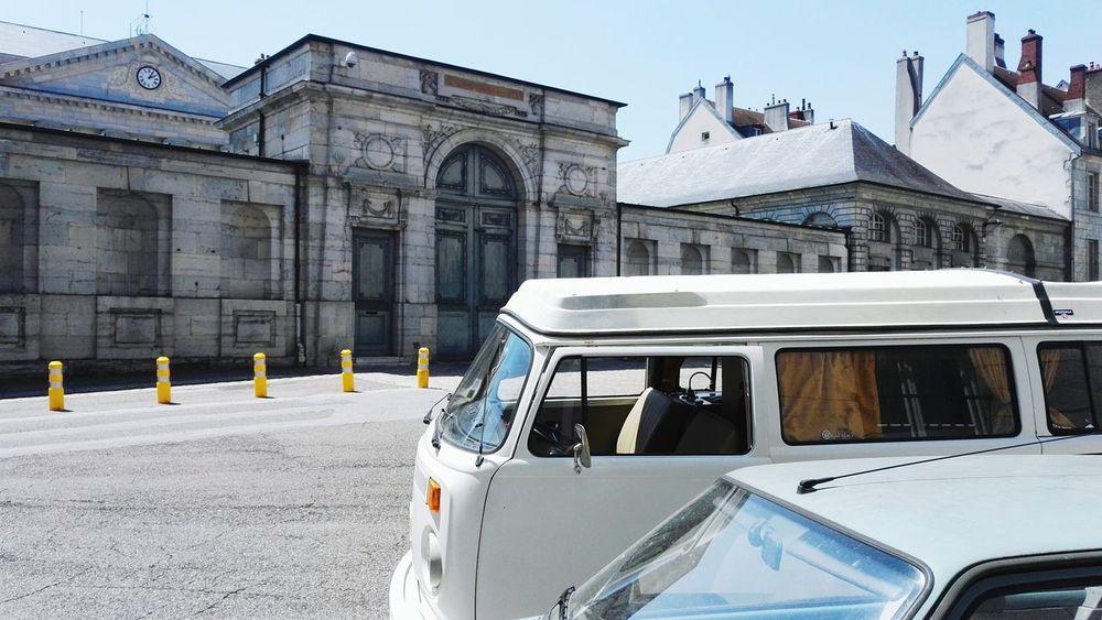 VW combi in Besançon Combi Volkswagen T2 Bay Window No People Besancon France Prefecture