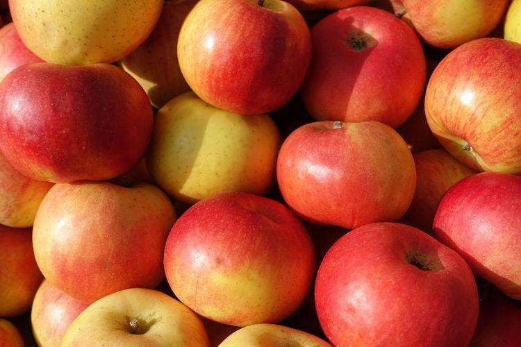 Äpfel Supermarket Healthy Lifestyle Fruit Red Full Frame Space Backgrounds Eating Market Apple - Fruit Vitamin C