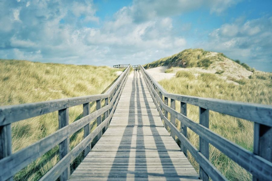 Sylt Dunes Path Sand Outside Outdoors Sea