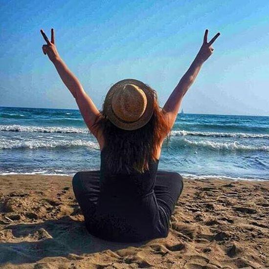 You never lose, Sometimes you win Sometimes you learn🙌✌ Photooftheday Yesholiday Beach Silence pleasure novoice listentovawe nostress igers girl happyhour sunshine nature freshair freedom only think yourself savethedate hepyazolsun lookup brightsun freedom allshotsturkey
