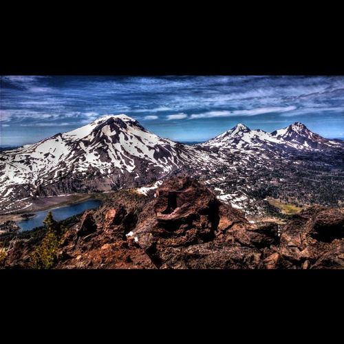 View of the Threesisters from about 3/4s of the way up the NW ridgeline of BrokenTop Cascades Theoutbound Reiproject1440 ExploreEverything Oregonexplored Exploregon Pnwcollective Hdr_lovers Hdrstyles_gf Me Choosemountains ShotOnMyLumia  Lumiaphotography Follow PNWonderland Love New Pnwlife Thepnwlife Bendlife Visitbend Centraloregon_igers Instagood inbend landscape landscape_lovers lumiachallenge