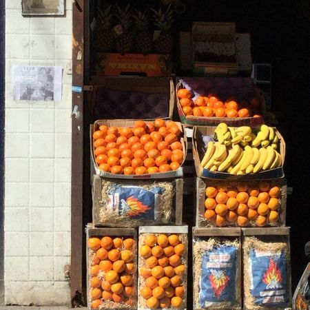 Streetphotography Street Food Worldwide Colour Of Life Colors Of Nature Grocery Shopping Greengrocery Orange Banana Carbon Getting Creative Getting Inspired Vintage Style Street Scene Light And Shadow