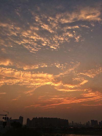 Sky Sunset Cloud - Sky Architecture Orange Color Built Structure Nature