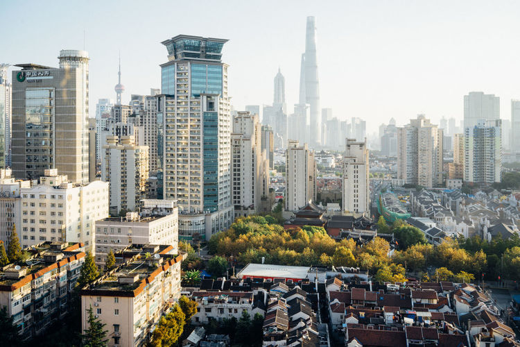 Shanghai Cityscape... Building Exterior Built Structure Architecture City Building Skyscraper Cityscape Tall - High Residential District Tower Modern Urban Skyline No People Architecture_collection