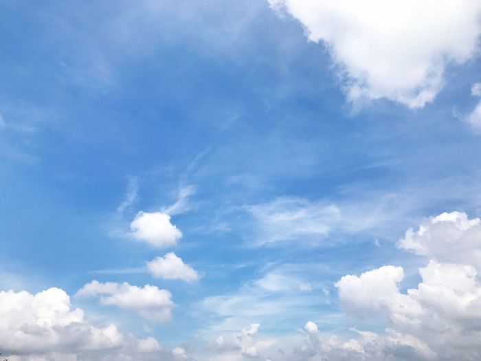 Cloud - Sky Sky Beauty In Nature Nature Backgrounds White Color Blue Tranquility Scenics Sky Only Full Frame No People Softness Day Outdoors Low Angle View