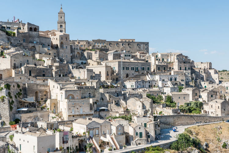 Matera, The 2019 European Capital Of Culture Architecture Building Exterior Built Structure City Building Sky History The Past Nature Clear Sky Day Travel Destinations Tourism Travel No People Town Sunlight Cityscape Outdoors TOWNSCAPE Ancient Civilization Culture Heritage Site Heritage