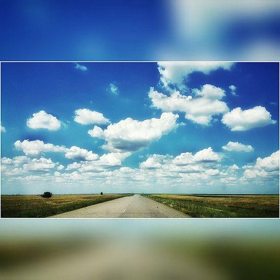 Картина маслом. Астрахань элиста трасса небо облака Astrakhan Astrakhan_people YouAst Astrakhan_live My_astrakhan Instrakhan