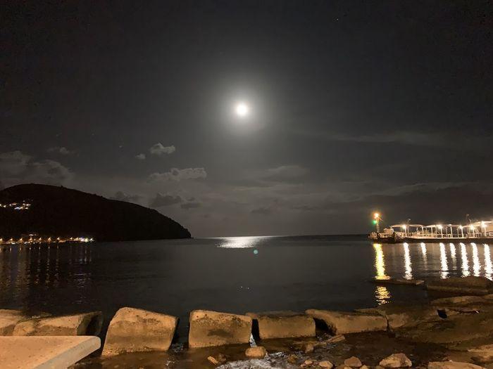 Water Sky Moon