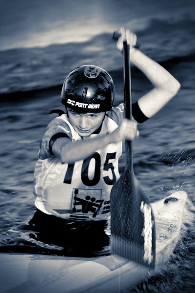 Black And White Blackandwhite Determination! Front View Fun Hobbies Kayaking Look Slalom Sport Sports Sports Photography