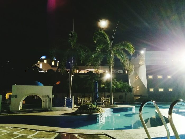 perfect night #summerfeels Moon View #pool Illuminated Outdoors Sky