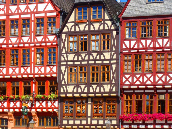 Facade of old buildings