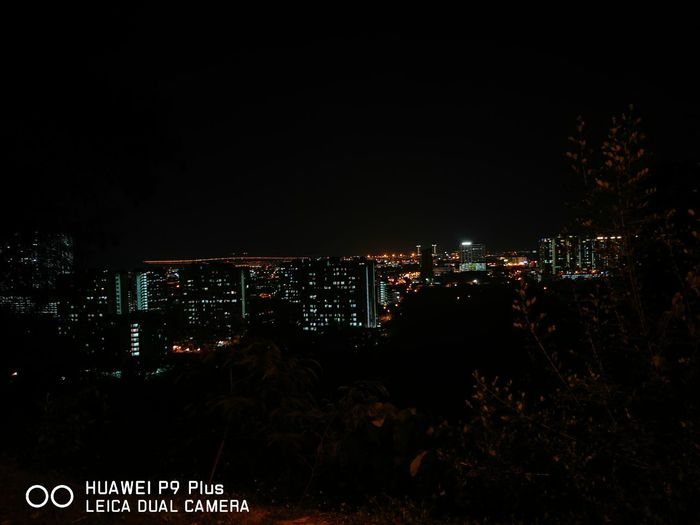 Huawei P9 Leica Bukit Jambul Hill Illuminated Night City Cityscape Social Issues No People Sky Outdoors First Eyeem Photo