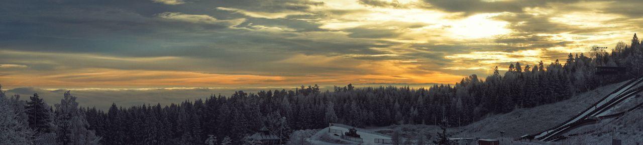 Sunset Octified Oslo Norway Holmenkollen