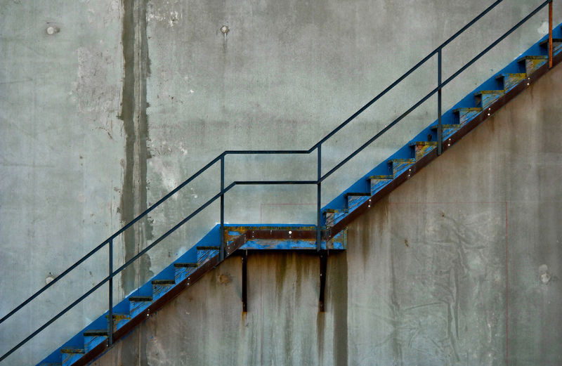 No People Architecture Railing Staircase Steps And Staircases Copy Space B&w Going Up Stairways Stairs Stair Stairs_collection Stairway Concrete Wall Concrete Angles And Lines Industry Factory Business Finance And Industry Concrete Jungle Staircases Stairway To Heaven