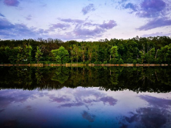 Lake Reflection Water Cloud - Sky Sky Symmetry Tree Nature Beauty In Nature Outdoors Landscape Wallpaper Dramatic Sky Contrast Amazing View Aroundtheworld Bestshot Lightroom Reflections In The Water Ig_romania Iasi EyeEm Diversity EyeEmNewHere FirstEyeEmPic