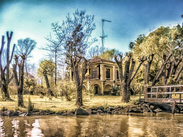 Lulu's hometown #NSFM Río Tigre Architecture Argentina Photography Bare Tree Building Exterior Built Structure Day Nature No People Outdoors Sky Tree Water