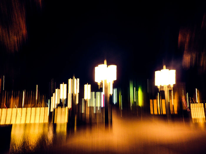 Nightphotography Something Different Wanderlust Abstract Blurred Motion Bridge Contrasts Darkness And Light Illuminated Lamps Night No People Streetlights
