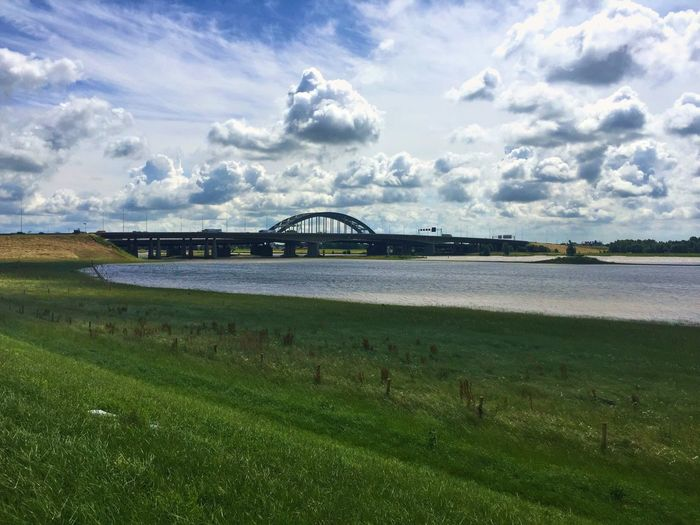 Lekbrug Vianen Check This Out Lek Bridge River Riverside Clouds And Sky Grassland Nieuwegein