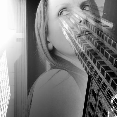 Selfportrait Black & White Architecture Light And Shadow