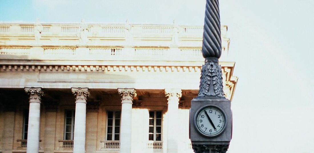 Time 35mm 35mm Slide Analog Bordeaux Time Horloge Ishootfilm Canonae1 Film Photography Streetphotography Slidefilm Filmisnotdead Architecture Theater Grand Theatre