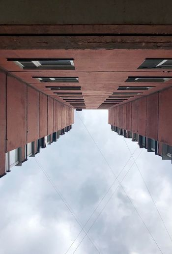 Look from under an arch. Architecture Built Structure No People Day Ceiling Building Exterior Building Outdoors Wall - Building Feature Pattern Nature Sky Sunlight Cloud - Sky Adventures In The City