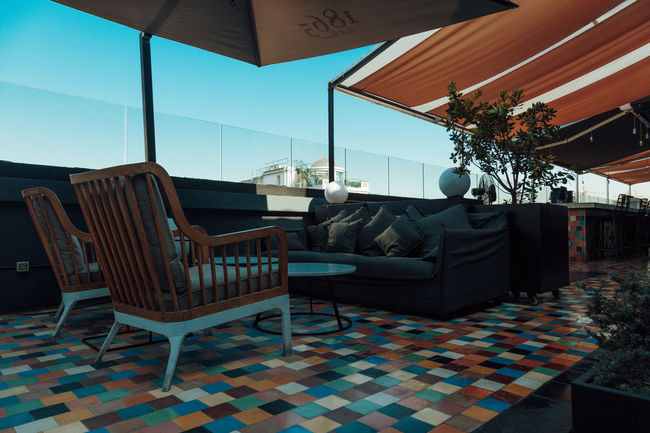 Architecture Boutique Hotel Chair Chile Day Floor Furniture Home Interior Home Showcase Interior Hotel Indoors  Living Room Luxury Modern No People Roof Top Table Tiled Floor Tiles Travel Travel Destinations Traveling Wanderlust
