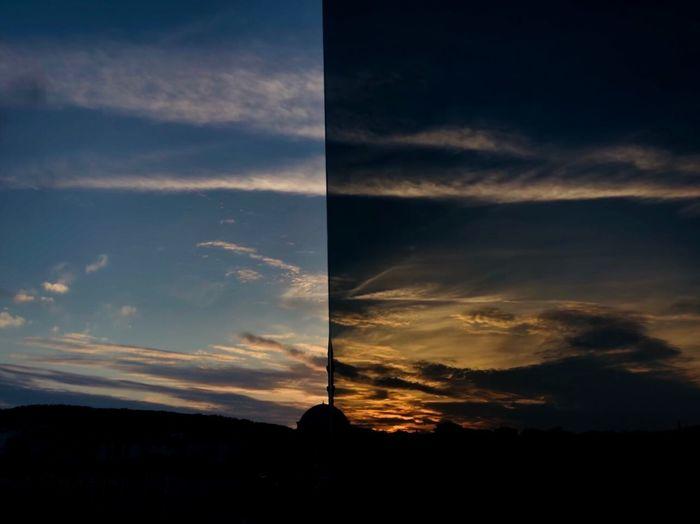 """'Dünya Bir Penceredir, Her Gelen Baktı Geçti..."""" Yunus Yunusemre Sky Cloud - Sky Silhouette Sunset Beauty In Nature Tranquility Nature"""