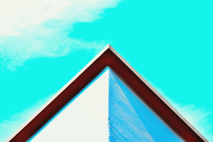 Minimalist Architecture Triangle Shape Blue Day Outdoors Sky Architecture Pattern Fine Art Photography Photography Fine Arts Picoftheday Photooftheday Pictureoftheday Nikonphotography Ahmedabad India Nikon D5200 Shadows And Sunlight Dramatic Sky Beautyofdecay Cloud - Sky
