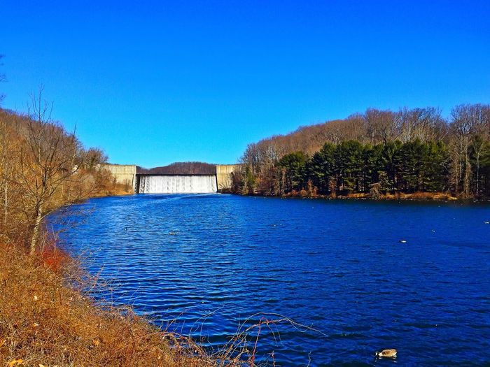 A bitterly cold, spectacular day at Loch Raven Dam in Baltimore County, Maryland. Water Nature EyeEm Nature Lover IPhoneography
