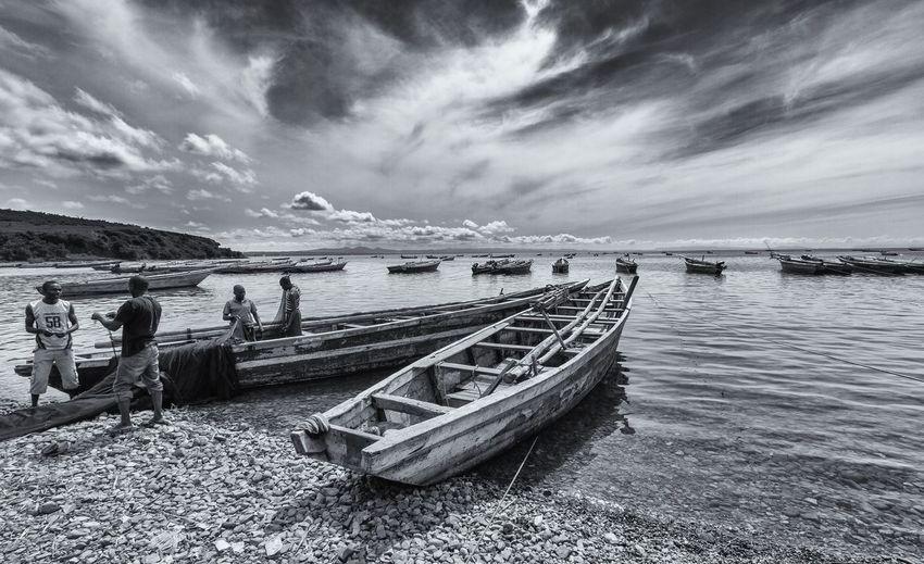 Africa Blackandwhite Photography Fishermen Lake Tanganyika Tanzania