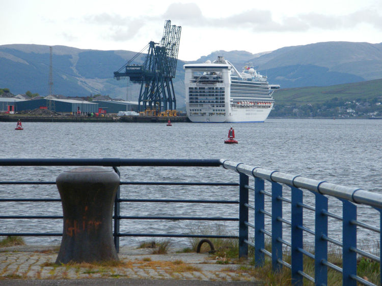 Architecture Building Exterior Built Structure Clyde Cruise Liner Cruise Ship Day Dock Dockside Greenock Waterfront Harbour Nature Nautical Vessel No People Outdoors Scotland Sky Water Greenock