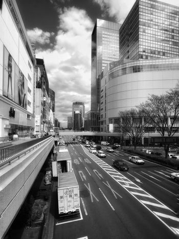 Architecture Building Exterior Built Structure City City Life Modern Transportation Car Road Street Outdoors Sky Skyscraper Day Japan