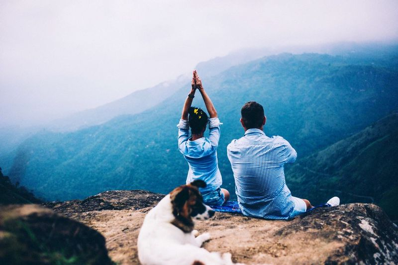 My Year My View This is my year View in Sri Lanka : Breath in Little Andaman Montain Two People Mountain Beauty In Nature Scenics Togetherness Sky Real People Rear View Hiking Landscape Nature Mountain Range Looking At View Friendship Tranquility Leisure Activity Sitting Day Outdoors Vacations