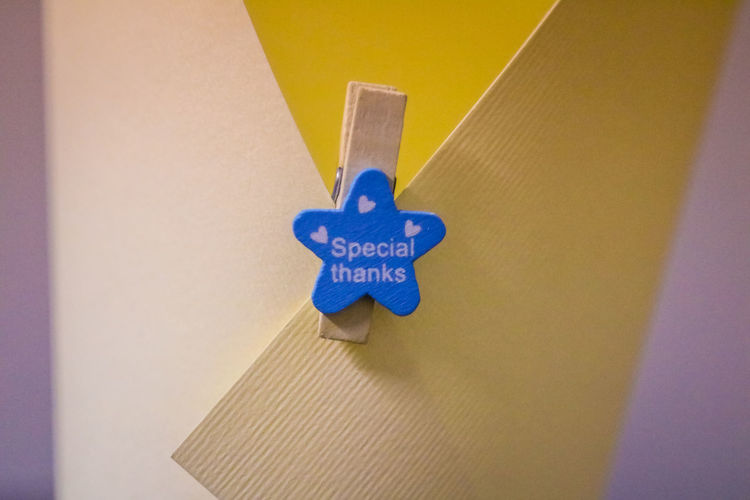 Blue Clipper Close-up Communication Handmade No People Office View Paper Paper Clip Paperclip Star Text Wooden