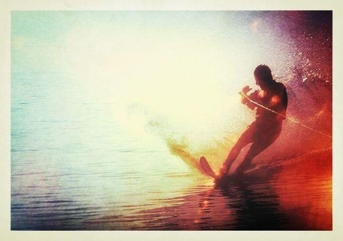 The EyeEm Facebook Cover Challenge Waterskiing