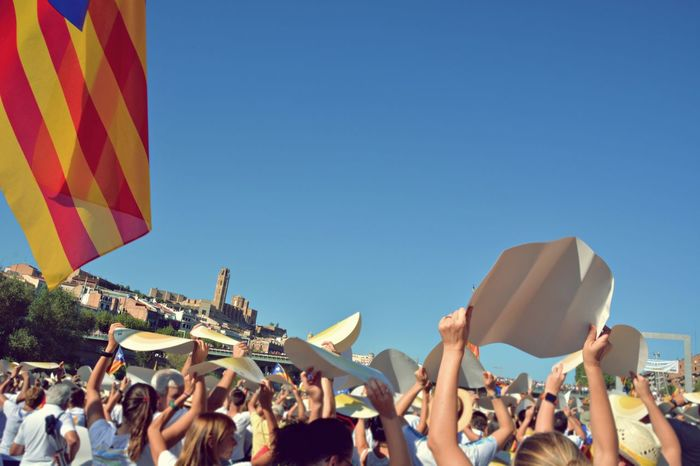 Lleida Lleidacity Catalunya Catalunyaexperience Catalonia 11setembre Diada Traditional Culture Freedom Of Expression Freedom Eye4photography  OpenEdit Summer Celebration Event La Seu Vella El Segria Identity Flag Battle Of The Cities