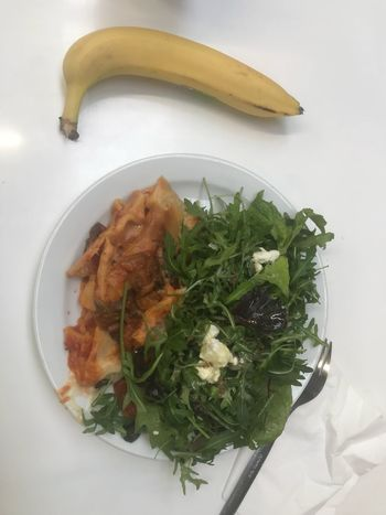 Veggie lasagne Food And Drink Food Healthy Eating High Angle View Freshness Indoors  Food Stories Banana Plate Serving Size Close-up Fruit Ready-to-eat