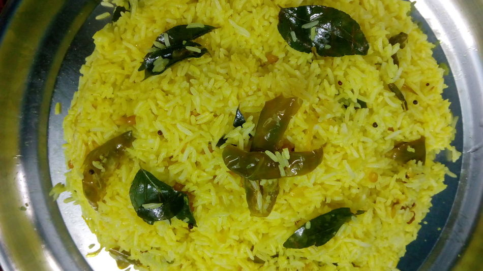 Yellow Food Plate Food And Drink Close-up Indoors  Mixing No People Freshness Day Indian Food At Its Best Indian Food Pulihora Lemon Rice Ready-to-eat Healthy Eating