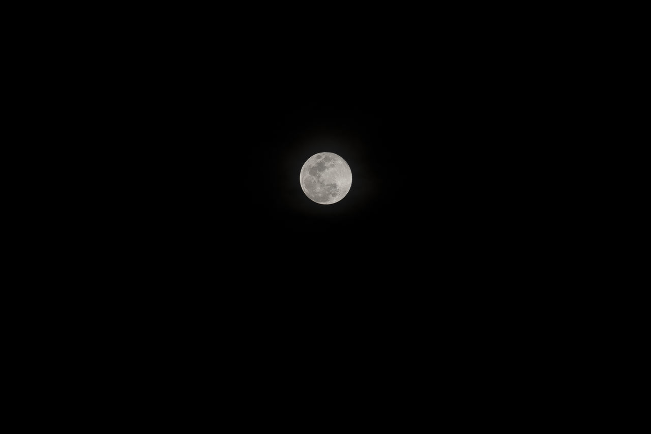 LOW ANGLE VIEW OF MOON AGAINST SKY