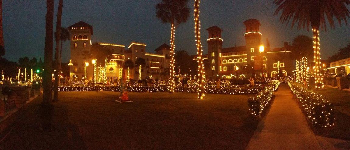 St. Augustine Beach Fl Night Of Lights  Florida