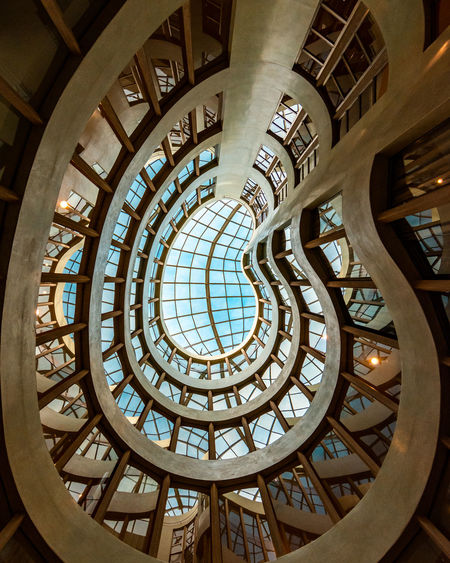 !!! :) Architecture Built Structure Indoors  Ceiling Low Angle View No People Glass - Material Window Pattern Building Dome Travel Destinations Architectural Feature Sunlight Shape Skylight Art And Craft Design Glass Ornate Directly Below Architecture And Art Barcelona EyeEm Team 17.62°