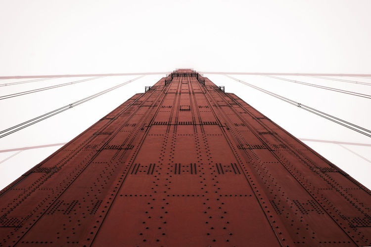 Architecture Art Deco Bridge Built Structure Fog Low Angle View Modern No People Tall Vanishing Point Colour Your Horizn
