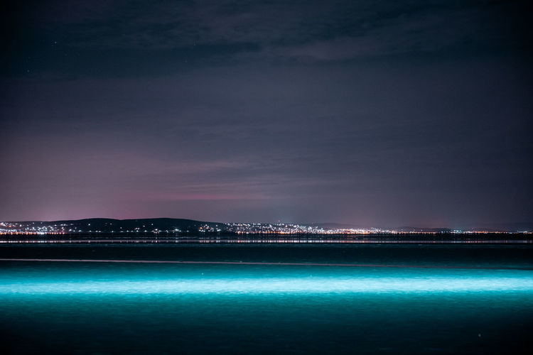 Drone  Light Lights Nightphotography Architecture Beauty In Nature Building Exterior Built Structure City Cloud - Sky Illuminated Nature Night Night Sky No People Outdoors Scenics - Nature Sea Sky Tranquil Scene Tranquility Travel Destinations Water Waterfront