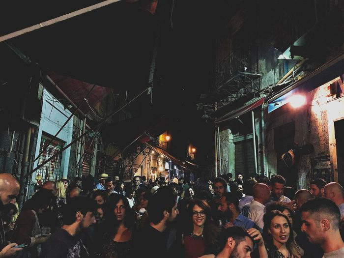 Party Time. EyeEm Best Shots EyeEmNewHere Palermo Palermo, Italy Adult Architecture Building Exterior Built Structure City Crowd Illuminated Large Group Of People Men Night Outdoors People Togetherness Women