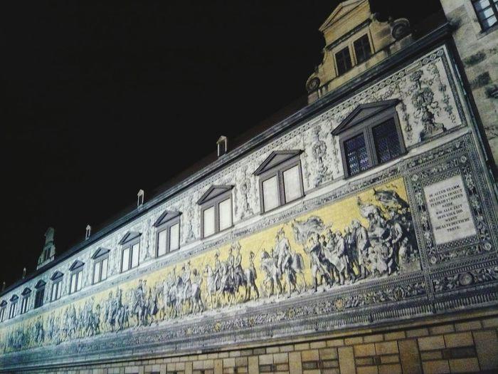 Dresden Sehenswürdigkeiten Stadt Bei Nacht Nachtaufnahme