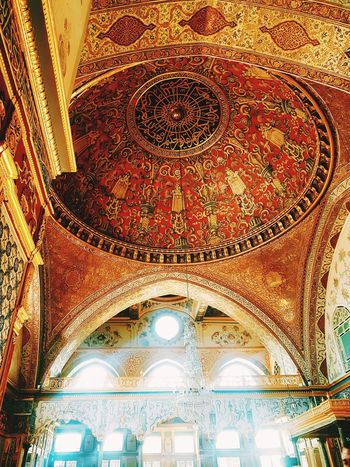 EyeEmNewHere Religion Place Of Worship Pattern Illuminated Ceiling Architecture Close-up Built Structure