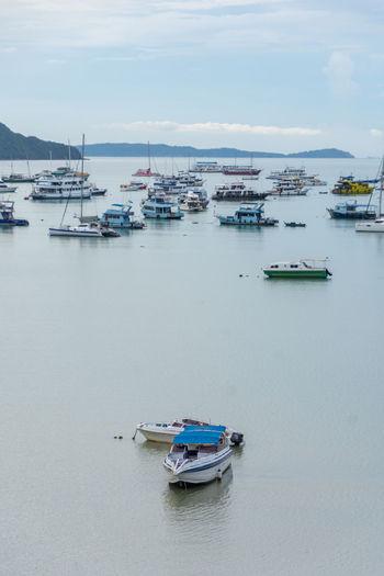 Fishing boats in sea